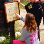 Students learn about the gold rush.
