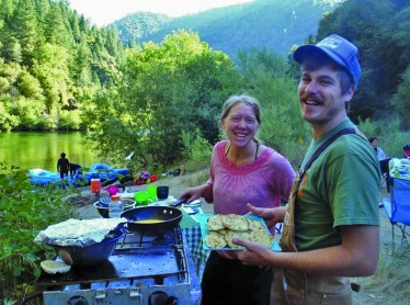 Dinner time on the Middle Fork American River